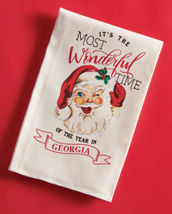 Mud Pie MP 41500079W Georgia Wonderful Xmas Towel