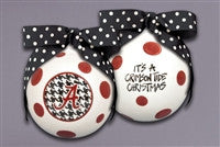 Magnolia Lane University of Alabama Houndstooth Ornament