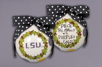 Magnolia Lane LSU Deck the Halls Ornament