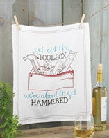 Mud Pie Hammered Flour Sack Towel