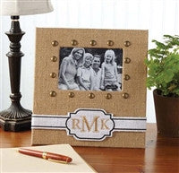 Mud Pie Burlap Personalized Frame