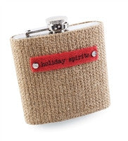 Mud Pie Burlap Flask