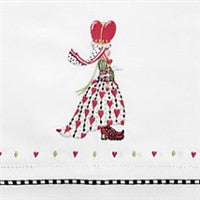Patience Brewster Queen of Hearts Tea Towel