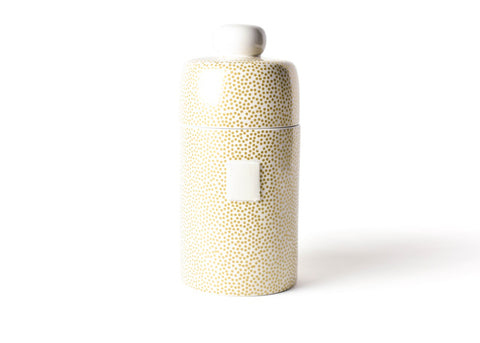 Coton Colors CC ACCES MINI-CAN-GLD Gold Small Dot Happy Everything Mini Canister