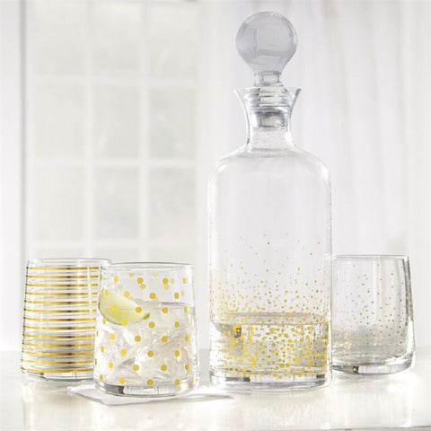 Mud Pie MP-4465066 Gold Dot Decanter