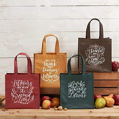 Two's Company TC 81129 Set of 4 Assorted Leftover Tote Bags