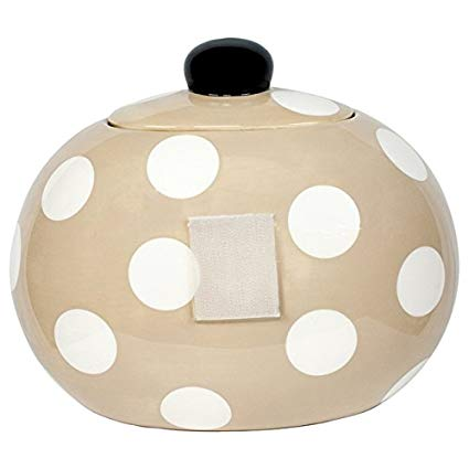 Coton Colors CC MINI-JAR-NEU Neutral White Dot Mini Cookie Jar