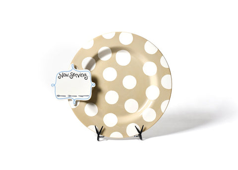 Coton Colors Neutral Dot Big Entertaining Platter with Party Hat Attachment