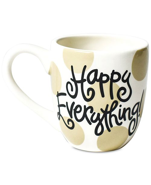 Coton Colors CC-HAPEV-MUG-NEU Neutral Dot Happy Everything 4.25 Mug