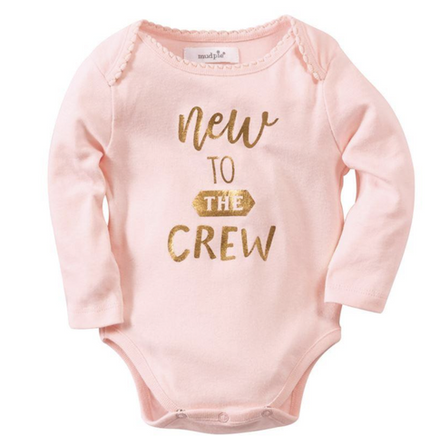 Mud Pie MP 11030045N New To Crew Girl Crawler 0-6 Months