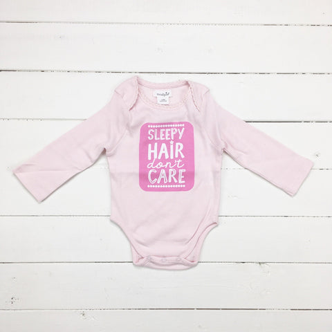 Mud Pie MP 11030045S Sleepy Hair Girl Crawler 0-6 Months