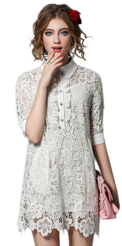 White Lace Dresses - Late-Summer/Early Fall <br>Lace Love Dress Update