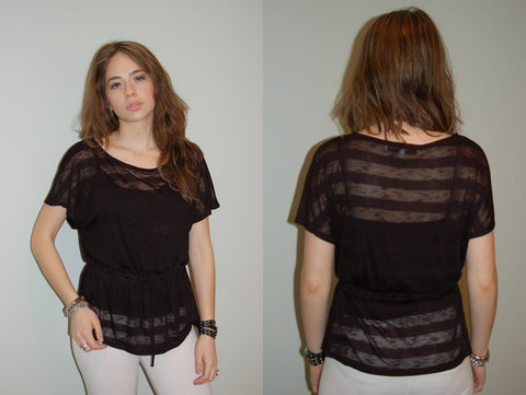 Alexis Lamontagna Burnout Pocket Tee - Batyana Boutique  - 1