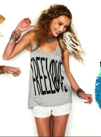 Lauren Moshi Shelby Swing Tank Free Love - Batyana Boutique