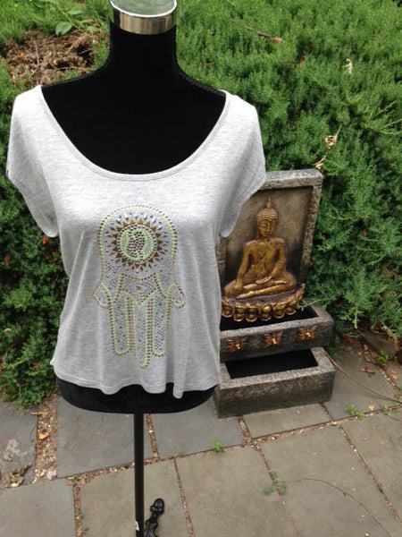 Almost Famous Bling Hamsa Unity Tank - Batyana Boutique  - 4