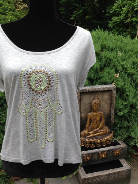 Almost Famous Bling Hamsa Unity Tank - Batyana Boutique  - 3