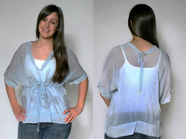 Johnny Was Cobalt Blouse - Batyana Boutique  - 1