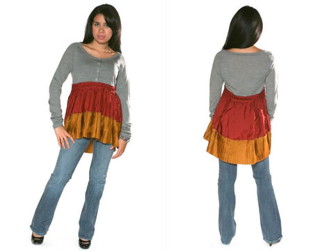 Manoush Skirted Merino Wool Sweater - Batyana Boutique  - 1
