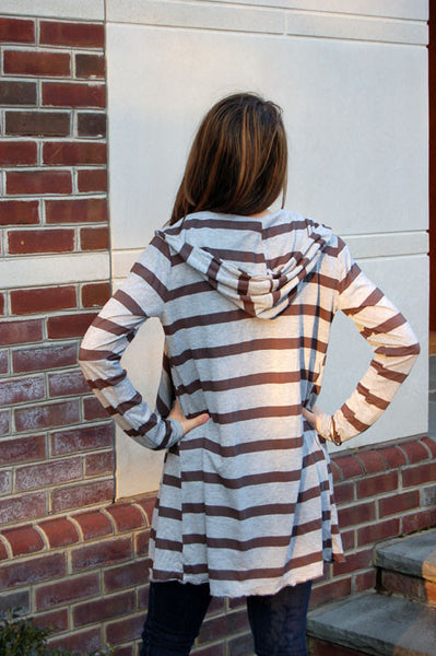 Midi Stripe Cardigan - Batyana Boutique  - 2