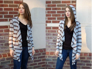 Midi Stripe Cardigan - Batyana Boutique  - 1