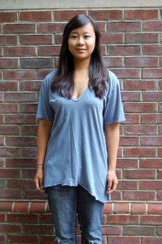 Midi V-Neck Pocket Tee - Batyana Boutique  - 2