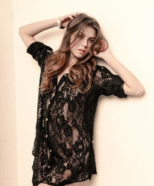 Miss Ferriday Lace Shirt Dress/Tunic - Batyana Boutique  - 1