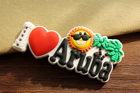ARUBA Tourist Travel Souvenir Decorative Rubber Fridge Magnet