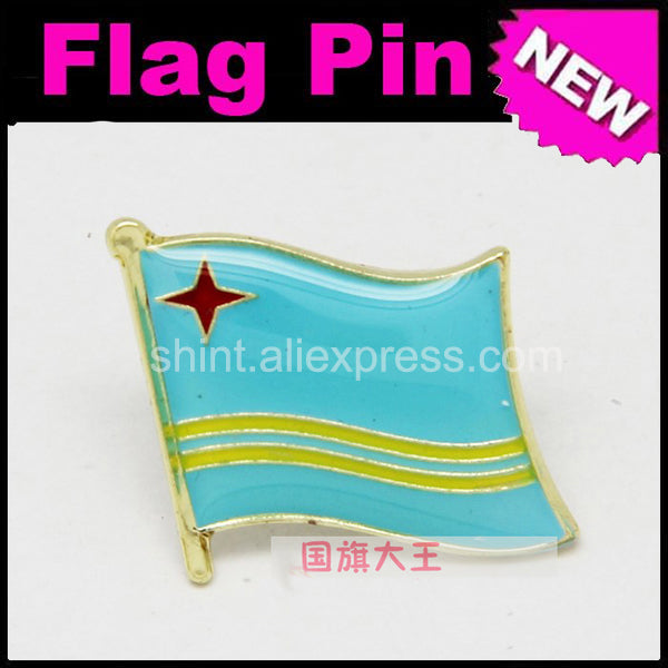 Lapel Pins Aruba Flag Pins All Over The World Badge Emblem Country State Pins
