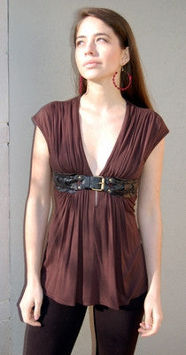 Sky Belted Top - Batyana Boutique  - 1