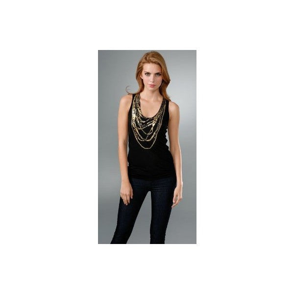 Torn by Ronny Kobo - Ronny Gold Chains Tank Top - Batyana Boutique  - 3