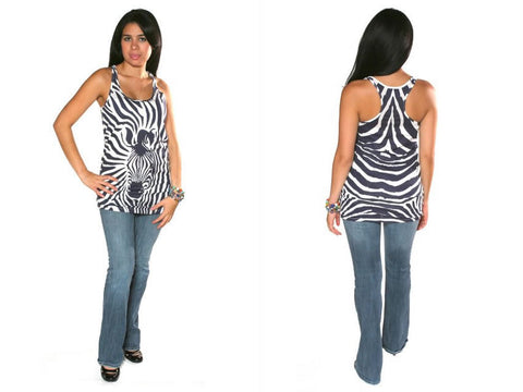 Torn by Ronny Kobo - Anne All Over Zebra Tank Top - Batyana Boutique