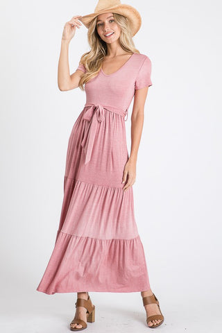 Tiered Maxi - Vintage Blush