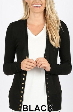 Snap Cardigan - Black