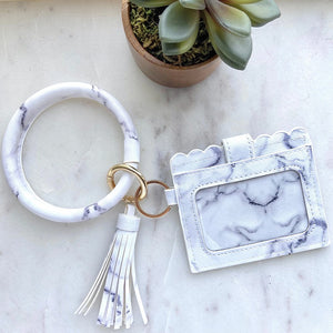 Cardholder w/Tassle & Bangle - Marble