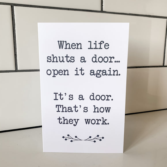 Open the Door - Greeting Card