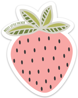 Nosey Strawberry - Sticker