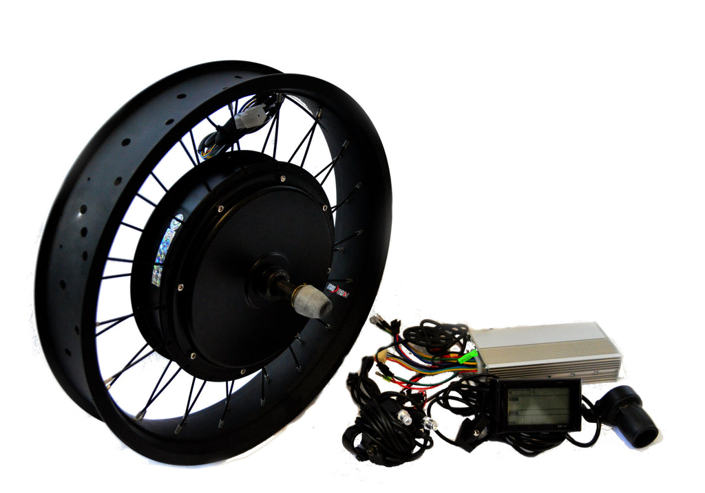 "1000W 48V 20""x3   Electric Rear Hub Motor Kit LCD Display"