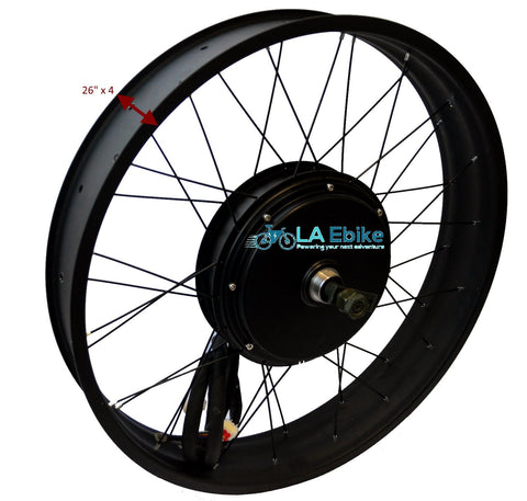 "QS 3000W V3 26"" x 4 5T Rear Hub Motor Fat Bike 170mm Axle"