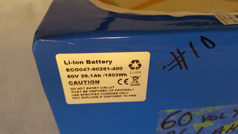 60v 26.1ah 1566 wh Lithium Square Battery