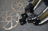 DNM Volcano Duel hydraulic disc brakes Inverted front shock