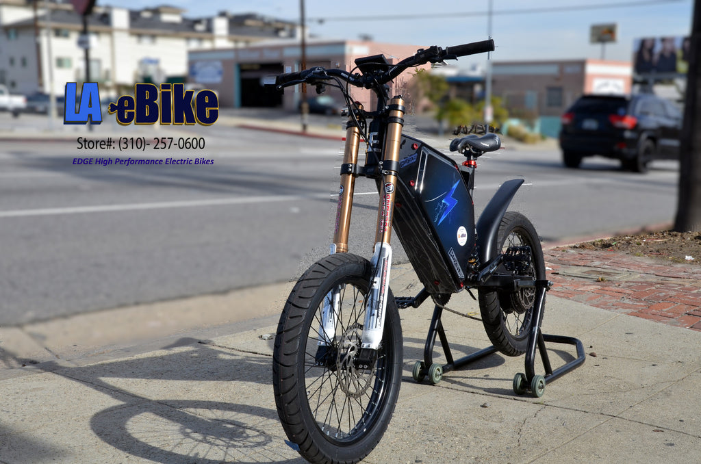 edge elite 7000w e bike 50mph la ebike. Black Bedroom Furniture Sets. Home Design Ideas