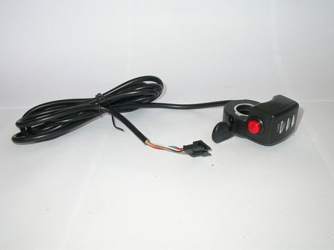 Thumb Throttle, LED Battery Indicator w/on-off Button
