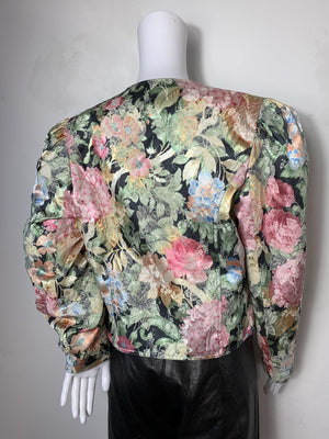 - One of a Kind - Vintage 1980s Silk Flora Avant Garde Jacket