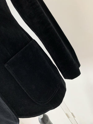 - ONE OF KIND - Vintage 70s Black velvet Blazer Jacket
