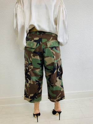 - ONE OF A KIND - Vintage Military Camouflage Combat Trousers Pants