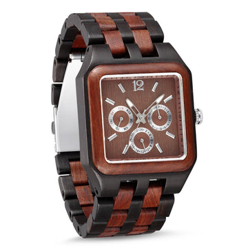 Wooden Watch Red Black | Contento