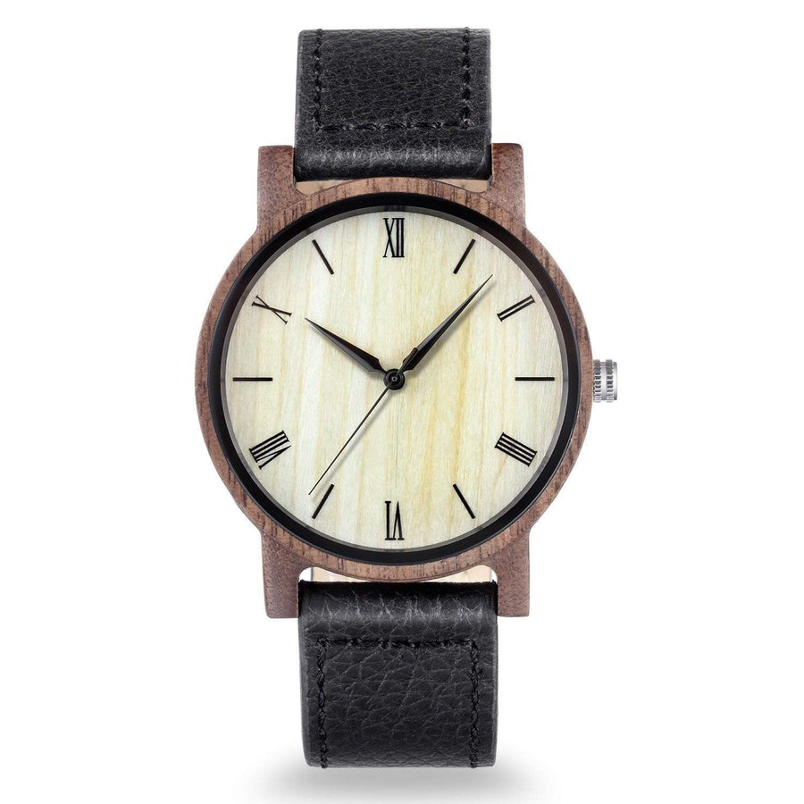 The Dusty Saw Wooden Watch Wooden Watch Walnut Sandalwood Leather  - Arce