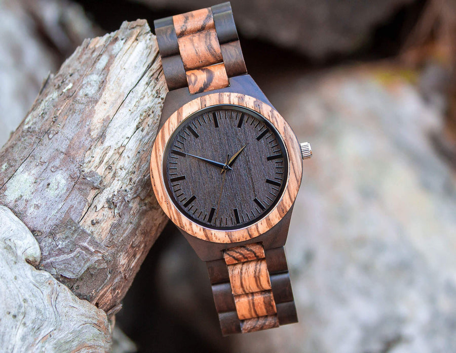 Wooden Watch | Grandiose 44mm - Dusty Saw