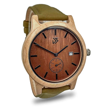 bamboo wooden watch leather band