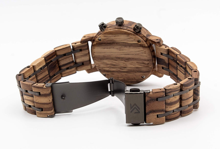 wooden watch back view